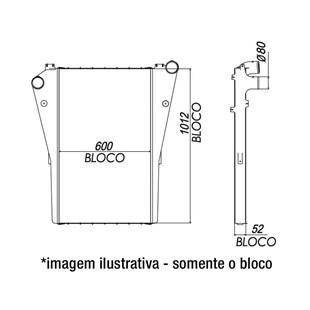 BLOCO INTERCOOLER MERCEDES LS1938 / LS2638 / LS1645 / LS1634 - BEHR HELLA