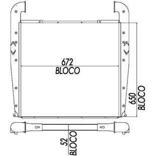 BLOCO INTERCOOLER SCANIA SERIE 2 T112 / 113 / 142 / R142 / K113 - BEHR HELLA