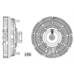 EMBREAGEM VISCOSA VW VOLKSWAGEN 17-250E / 23-250E / 24-250E CONSTELLATION 17-250 / 24-250 / 8-150E / 9-150E - MAGNETI MARELLI