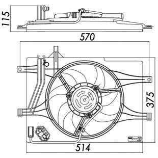 GMV VENTOINHA E DEFLETOR FIAT IDEA / PALIO / SIENA / STRADA MOTOR FIRE 1.0 / 1.3 2001 EM DIANTE COM AR (SISTEMA BEHR) - BEHR HELLA