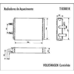 RADIADOR AQUECIMENTO VW VOLKSWAGEN CAMINHAO - VALEO