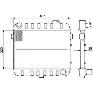 RADIADOR GM CHEVROLET A10 / C10 CARAVAN / OPALA 4CL >82 - VISCONDE/MODINE