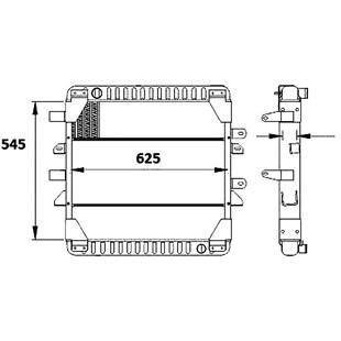 RADIADOR MERCEDES BENZ 710 PLUS / L914 INTERCOOLER / ONIBUS OF814 INTERCOOLER MANUAL SEM AR - MAGNETI MARELLI