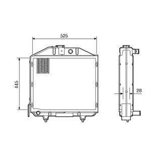 RADIADOR MWM D 225-3 / 4 / D-229-3 / 4 - VISCONDE/MODINE
