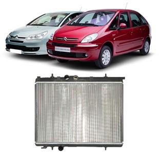 RADIADOR PEUGEOT 206 / 207 / 307 / HOGGAR 1.6 CITROEN C4 / XSARA PICASSO 1.6 MANUAL COM AR - VALEO