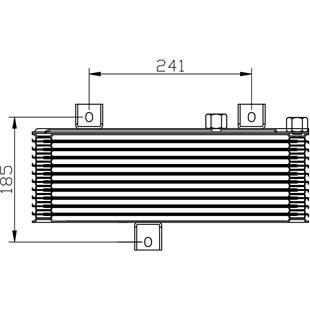 RESFRIADOR OLEO MITSUBISHI L200 GL / GLS 98 / 02 / SPORT / HPE / OUTDOOR 2003 A 2011 4X2 / 4X4 - PROCOOLER