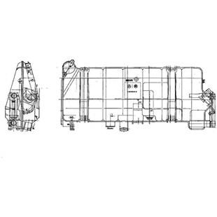 TANQUE COMPENSACAO MERCEDES BENZ ONIBUS O371 / O400 / O500 RS - BEHR HELLA